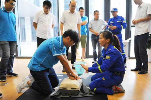公司开展应急救护知识培训